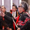 At least 500 people representing several dozen Native American Nations within the state attended a New Year\'s pow-wow in the Centennial Building at State Fair Park Saturday , January 7, 2012, The celebration started around shortly after noon and continued into the night. Several hundred took part in the various dancers and the dancers wore tribal regalia. Photo by Jim Beckel, The Oklahoman