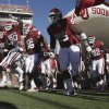 Players David King (90), Adrian Taylor (86) and Casey Walker (53) take the field for the college football game between the University of Oklahoma Sooners (OU) and Utah State University Aggies (USU) at the Gaylord Family-Oklahoma Memorial Stadium on Saturday, Sept. 4, 2010, in Norman, Okla. Photo by Steve Sisney, The Oklahoman