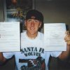 Brandon Weeden shows off his Letter of Intent to play baseball at Oklahoma State. PHOTO PROVIDED