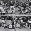 Photo - UNIVERSITY OF OKLAHOMA, OU FOOTBALL HISTORY:  This sequence shows the touchdown Notre Dame scored, the only touchdown of the game. Notre Dame's Dick Lynch scored with 3:50 left in the game and the Irish won 7-0. - COURTESY OF UNIVERSITY OF OKLAHOMA SPORTS INFORMATION  1957