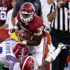 Oklahoma Sooner Samaje Perine (32) carries during a college football game between the University of Oklahoma Sooners (OU) and the Louisiana Tech Bulldogs at Gaylord Family-Oklahoma Memorial Stadium in Norman, Okla., on Saturday, Aug. 30, 2014. Photo by Steve Sisney, The Oklahoman