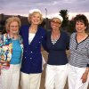 Photo -  Ellen Jayne Wheeler, LaDonna Meinders, Jean McCown and Emogene Collins enjoy the Oklahoma City Orchestra League Sunset Boat Cruise and Dinner fundraiser.