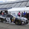 Photo - Jimmie Johnson leaves the garage area for practice for the NASCAR Sprint Cup series auto race, Saturday, May 31, 2014, at Dover International Speedway in Dover, Del. (AP Photo/Molly Riley)