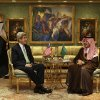 U.S. Secretary of State John Kerry, left, meets with Saudi Foreign Minister Prince Saud al-Faisal in his palace in Riyadh, Saudi Arabia on Sunday, March 3, 2013. Saudi Arabia is the seventh leg of Kerry\'s first official overseas trip. (AP Photo/Jacquelyn Martin, Pool)