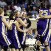 Okarche celebrates their win over Chattanooga in the Class A girl\'s semi final game between Chattanooga and Okarche at the State Fair Arena in Oklahoma City, Friday, March 2, 2012. Photo by Sarah Phipps, The Oklahoman