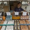 In this Sept. 17, 2013 photo, street vendor Marcos Yoshiga uses his Volkswagen van to transport his crates of eggs to sell at a street market in Sao Paulo, Brazil. Brazil is the last place in the world still producing the iconic vehicle, or