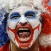 A spectator from Chile yells before the group B World Cup soccer match between Chile and Australia in the Arena Pantanal in Cuiaba, Brazil, Friday, June 13, 2014. (AP Photo/Kirsty Wigglesworth)