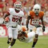 OU\'s Ryan Broyles (85) leaves behind Blake Gideon (21) and Quandre Diggs (28) after a catch in the first half during the Red River Rivalry college football game between the University of Oklahoma Sooners (OU) and the University of Texas Longhorns (UT) at the Cotton Bowl in Dallas, Friday, Oct. 7, 2011. Photo by Nate Billings, The Oklahoman