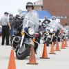 Officers demonstrate control in tight turns as the Edmond Police Department holds its civilian motorcycle survival class at the city training center in Edmond, OK, Saturday, April 23, 2011. By Paul Hellstern, The Oklahoman