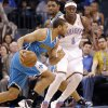 Oklahoma City Thunder\'s Ronnie Brewer (8) defends on New Orleans Hornets\' Xavier Henry (4) during the NBA basketball game between the Oklahoma City Thunder and the New Orleans Hornets at the Chesapeake Energy Arena on Wednesday, Feb. 27, 2013, in Oklahoma City, Okla. Photo by Chris Landsberger, The Oklahoman