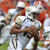 Photo -   Georgia Tech quarterback Tevin Washington runs out of the pocket in the first quarter of an NCAA college football game against Clemson on Saturday, Oct. 6, 2012, at Memorial Stadium in Clemson, S.C. (AP Photo/ Richard Shiro)