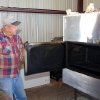 Wayne Brinkley prepares the smoker at Erick-based Somekinda Catering, which provides food to oilfield workers throughout western Oklahoma and the Texas panhandle. photo by Adam Wilmoth