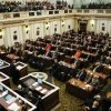 Oklahoma Gov. Brad Henry delivers his State of the State address to the House and Senate members in the Oklahoma House Chamber in a joint session of the Oklahoma Legislature on Monday, Feb. 1, 2010, in Oklahoma City. (AP Photo/Alonzo Adams)