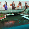 The Oklahoman Girls Super 5 basketball team: Carl Albert\'s Gioya Carter, Anadarko\'s Lakota Beatty, Jenks\' Jessica Washington, Bixby\'s Christina Devers, Tulsa Washington\'s Kaylan Mayberry and Coach of the Year Londaryl Perry of the Northeast. PLAYER PHOTOS BY NATE BILLINGS AND DOUG HOKE, CRYSTAL BRIDGE PHOTO FROM THE OKLAHOMAN ARCHIVES; ILLUSTRATION BY BILL BOOTZ, THE OKLAHOMAN