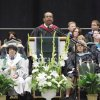 Principal Jason Brown addresses the graduates during the Edmond Santa Fe Commencement at the Cox Convention Center in Oklahoma City, OK, Saturday, May 15, 2010. By Paul Hellstern, The Oklahoman