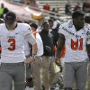 Oklahoma State\'s Brandon Weeden (3) and Justin Blackmon (81) walk the sideline during a college football game between Texas Tech University (TTU) and Oklahoma State University (OSU) at Jones AT&T Stadium in Lubbock, Texas, Saturday, Nov. 12, 2011. Photo by Sarah Phipps, The Oklahoman ORG XMIT: KOD