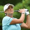 Photo - Cristie Kerr of the USA watches her tee shot on the second hole during the third round of the Canadian Women's Open golf tournament in London, Ontario, on Saturday, Aug. 23, 2014. (AP Photo/The Canadian Press, Dave Chidley)