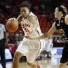 Oklahoma\'s Portia Durrett dribbles as the University of Oklahoma Sooners (OU) play the Wichita State Shockers in NCAA, women\'s college basketball at The Lloyd Noble Center on Sunday, Nov. 10, 2013 in Norman, Okla. Photo by Steve Sisney, The Oklahoman