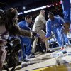 Oklahoma City\'s Kevin Durant (35) is introduced before the NBA basketball game between the Denver Nuggets and the Oklahoma City Thunder in the first round of the NBA playoffs at the Oklahoma City Arena, Wednesday, April 27, 2011. Photo by Bryan Terry, The Oklahoman
