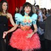 Kimbra Lee Johnson arrives for the Australian music industry Aria Awards in Sydney, Thursday, Nov. 29, 2012. (AP Photo/Rick Rycroft)