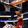 Los Angeles Clippers\' Blake Griffin, right, misses a dunk in front of Phoenix Suns\' Marcin Gortat, of Poland, during the first half in an NBA basketball game, Thursday, Jan. 24, 2013, in Phoenix. (AP Photo/Ross D. Franklin)
