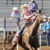 Kayla Melby, from Burneyvile, in the Pole Bending at the International Finals Youth Rodeo in Shawnee, Friday, July 11, 2014. Photo by David McDaniel, The Oklahoman