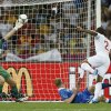 Italy goalkeeper Gianluigi Buffon saves a shot from England\'s Glen Johnson during the Euro 2012 soccer championship quarterfinal match between England and Italy in Kiev, Ukraine, Sunday, June 24, 2012. (AP Photo/Kirsty Wigglesworth)