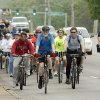 Riders head south on Bryant Avenue during the Central Oklahoma Bike to Work Day 2009 in Edmond, OK, Friday, May 1, 2009. BY PAUL HELLSTERN, THE OKLAHOMAN