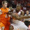 Oklahoma\'s Sam Grooms (1) goes past Oklahoma State\'s Keiton Page (12) during the Bedlam men\'s college basketball game between the University of Oklahoma Sooners and the Oklahoma State Cowboys in Norman, Okla., Wednesday, Feb. 22, 2012. Photo by Bryan Terry, The Oklahoman