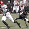 Carl Albert\'s Steven Thompson (3) makes an interception on a pass to East Central\'s Stanvon Taylor (2) during the Class 5A Oklahoma state championship football game between Carl Albert High School and Tulsa East Central High School at Boone Pickens Stadium on Saturday, Dec. 1, 2012, in Stillwater, Okla. Photo by Chris Landsberger, The Oklahoman