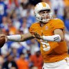 Photo -   Tennessee quarterback Tyler Bray (8) throws during the second quarter of an NCAA college football game against Georgia State, Saturday, Sept. 8, 2012, in Knoxville, Tenn. (AP Photo/Wade Payne)