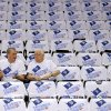 Photo - Ed Lotz, left, and Henry Primeaux of Tulsa wait for the start of Game 5 in the second round of the NBA playoffs between the Oklahoma City Thunder and the Memphis Grizzlies at Chesapeake Energy Arena in Oklahoma City, Wednesday, May 15, 2013.  Photo by Bryan Terry, The Oklahoman