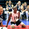USA\'s Kari Miller (10) and Nichole Millage celebrates a point during the 2010 Sitting Volleyball World Championships Women\'s gold medal match between USA and China, Sunday, July 18, 2010, at the University of Central Oklahoma, in Edmond, Okla. Photo by Sarah Phipps, The Oklahoman.