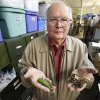 Photo - Karl White of Luther with some of his multimillion dollar fishing lure collection on Friday, April 26, 2013.  Photo By David McDaniel, The Oklahoman