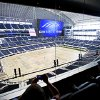 A group of media members sit in the club level as they take a tour of Cowboys Stadium in Arlington, Texas. Photo by Bryan Terry, The Oklahoman