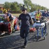 Police, fire, and EMSSTAT personnel respond to a six-car accident with multiple injuries on westbount State Highway 9 at SE 12th Street on Friday, August 26, 2011, in Norman, Okla. Photo by Steve Sisney, The Oklahoman