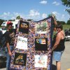 Star Chapter 162 of the Star Touring and Riding Motorcycle Association had their first multi-chapter ride-in and picnic at the Choctaw Park. The Star chapter from Tulsa and the north OKC chapter 378 also joined them in the festivities. The Quilt seen here was won in the raffle by Steve Roberts of chapter 378 shown here with the quilt\'s maker JC Brasher, wife of Chapter 162\'s president, Tom Brasher. Community Photo By: Garry Baird Submitted By: Garry, Oklahoma City