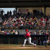 Washington Nationals\' Bryce Harper hits a single during the first inning of an exhibition spring training baseball game against the Houston Astros on Monday, March 25, 2013, in Kissimmee, Fla. (AP Photo/Evan Vucci)
