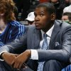 Oklahoma City\'s Kevin Durant watches the game from the bench in the first half during the NBA basketball game between the Dallas Mavericks and the Oklahoma City Thunder at the Ford Center in Oklahoma City, March 2, 2009. Durant did not play due to injury. BY NATE BILLINGS, THE OKLAHOMAN