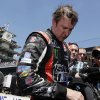Photo - Kurt Busch takes off his helmet after finishing sixth in the 98th running of the Indianapolis 500 IndyCar auto race at the Indianapolis Motor Speedway in Indianapolis, Sunday, May 25, 2014. (AP Photo/R Brent Smith)