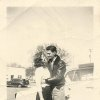Photo - Top, left:  Bob and Barbara (Case) Pettis embrace in the spring of 1951, before they got married.