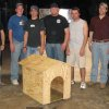 Members of the University of Oklahoma\'s Construction Students Association pose with their