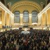 Photo - Commuters pack the main hall of Grand Central Station in New York after a power problem with Metro-North Railroad's computer system caused the suspension of service on the Hudson, Harlem, and New Haven lines, Thursday, Jan. 23, 2014. Trains were brought to a halt for safety purposes while electricians worked to hook up temporary power to the computer system. Metro-North is the nation's second-busiest railroad and serves 281,000 riders a day in New York and Connecticut. (AP Photo/John Minchillo)
