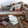 Tornado damaged home north of Waterloo on Broadway, Tuesday , February 10, 2009. By David McDaniel, The Oklahoman.