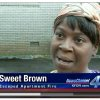 Photo - Screen grab from KFOR.com of Sweet Brown interview.