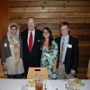 CASADY CAMPUS....Casady seniors heading to OU are Summayah Anwar, Nina Becerra and Scott Bennett with OU President David L. Boren who was on the Casady campus recently. (Photo provided).