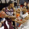 Texas A&M\'s Khris Middleton (22) holds the ball as OSU\'s Brian Williams (4) defends during a men\'s college basketball game between the Oklahoma State University Cowboys and Texas A&M University Aggies at Gallagher-Iba Arena in Stillwater, Okla., Saturday, Feb. 25, 2012. OSU won, 60-42. Photo by Nate Billings, The Oklahoman