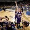 Okarche\'s Kristen Meyer celebrates the Lady Warriors win over Chattanooga in the finals of the Class A girls high school basketball state tournament between Chattanooga and Okarche at the State Fair Arena, Saturday, March 6, 2010, in Oklahoma City. Photo by Sarah Phipps, The Oklahoman