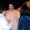 In this photo provided by Cuba\'s state newspaper Granma, Cuban Foreign Minister Bruno Rodriguez , left, talks with Venezuela\'s Vice President Nicolas Maduro, center, as Venezuelan Attorney General Cilia Flores watches at the Jose Marti International Airport in Havana on Saturday, Dec. 29, 2012. Maduro arrived in Cuba to visit Venezuelan President Hugo Chavez, who is recovering from a surgery_ his fourth operation related to his pelvic cancer since June 2011. (AP Photo/Granma, Juvenal Balan Neyra )