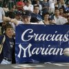 Photo - New York Yankees fans show their appreciation for retiring closer Mariano Rivera before a baseball game against the Houston Astros Sunday, Sept. 29, 2013, in Houston. (AP Photo/Richard Carson)